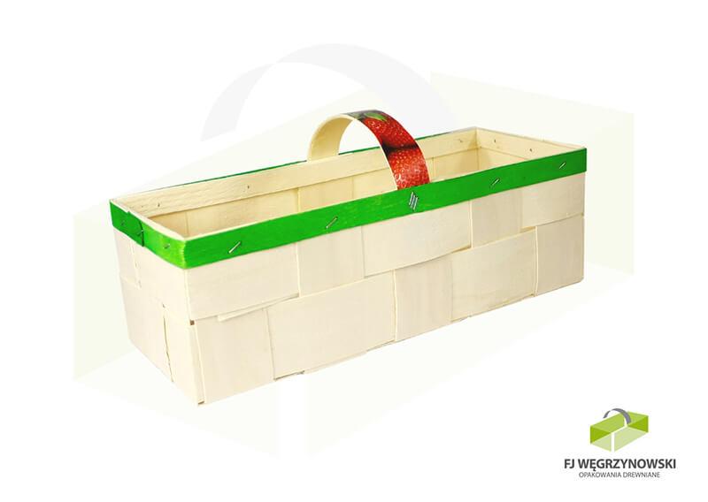 Basket 37 x 14 x 11 cm, 2-2,5 kg, colour 9, strawberries